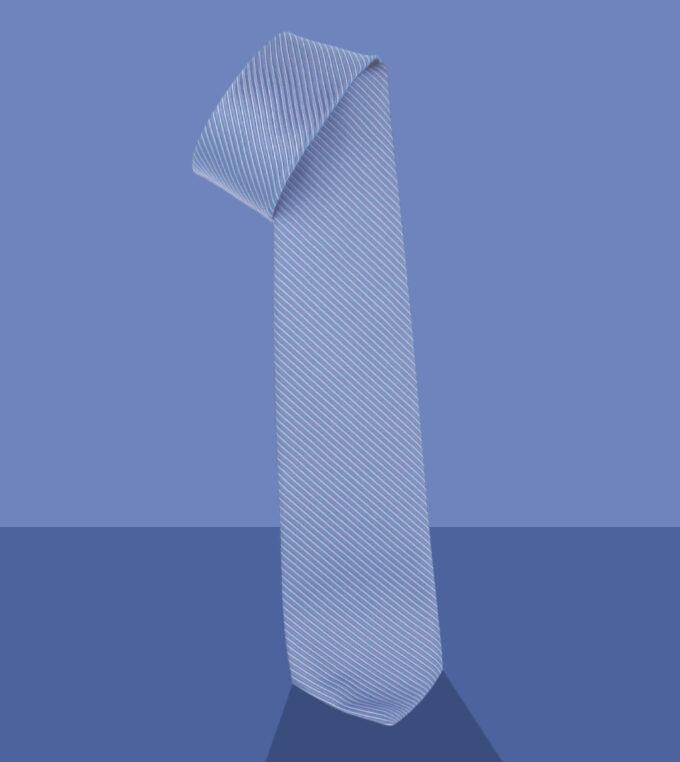 cravatta jacquard celeste