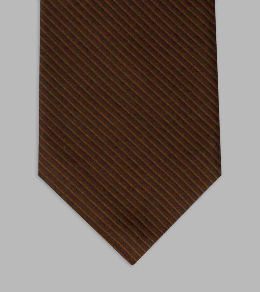 cravatta jacquard caffé