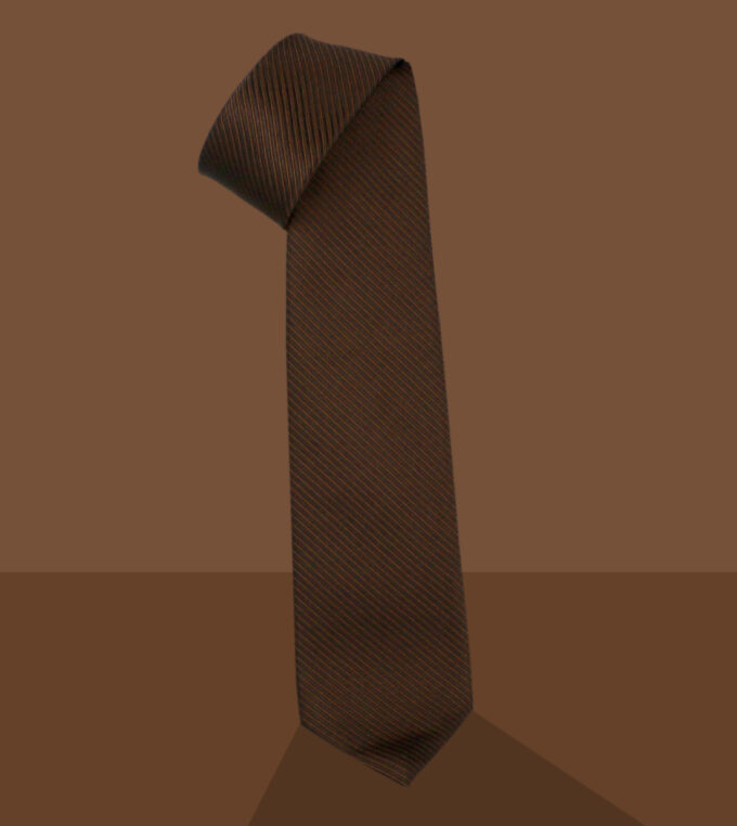 coffee brown jacqurd necktie