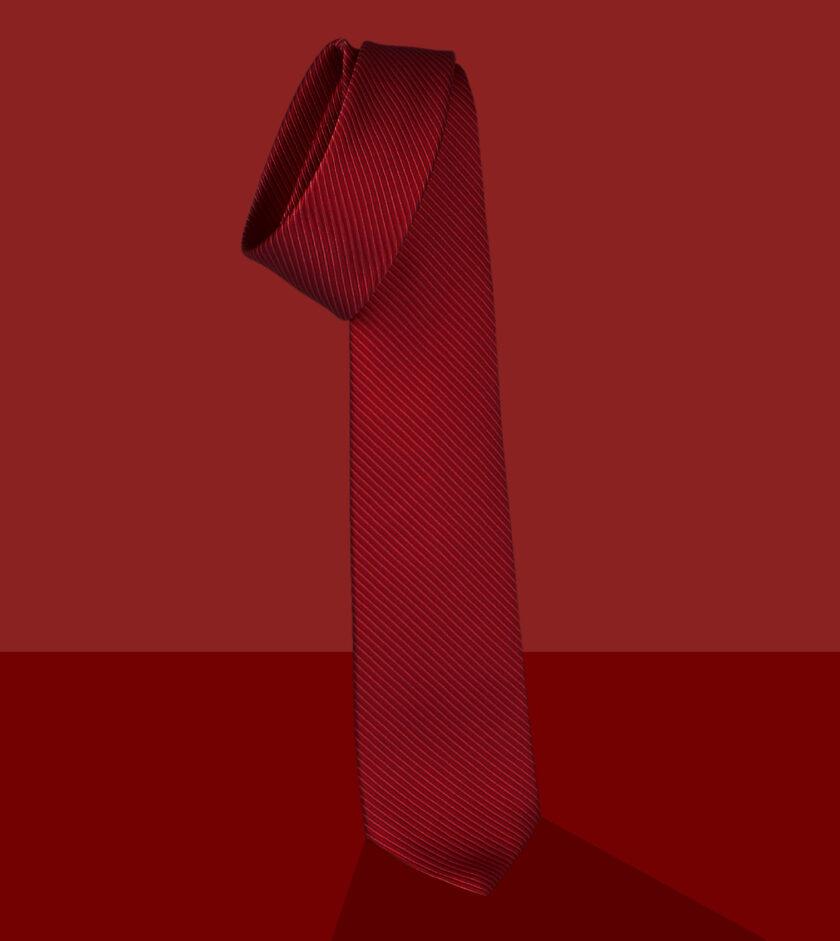 red jacqurd necktie
