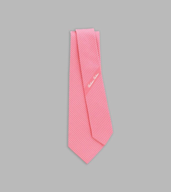 cravatta jacquard rosa