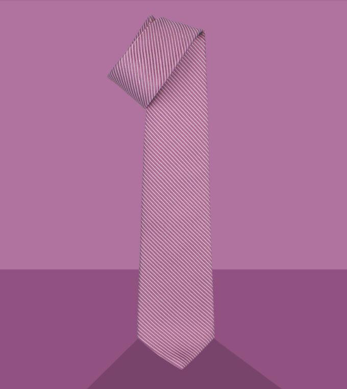 cravatta jacquard malva