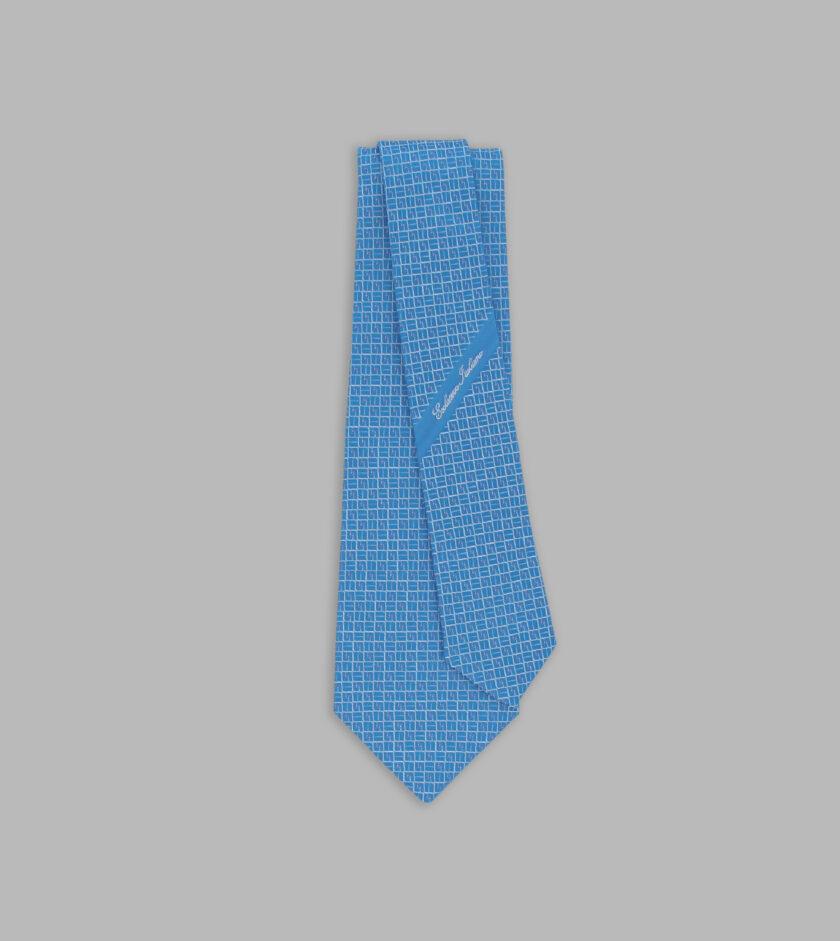 cravatta jacquard azzurro