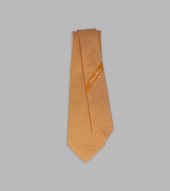 cravatta jacquard arancio