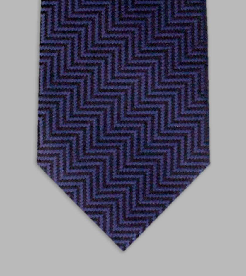 marine blue jacqurd necktie