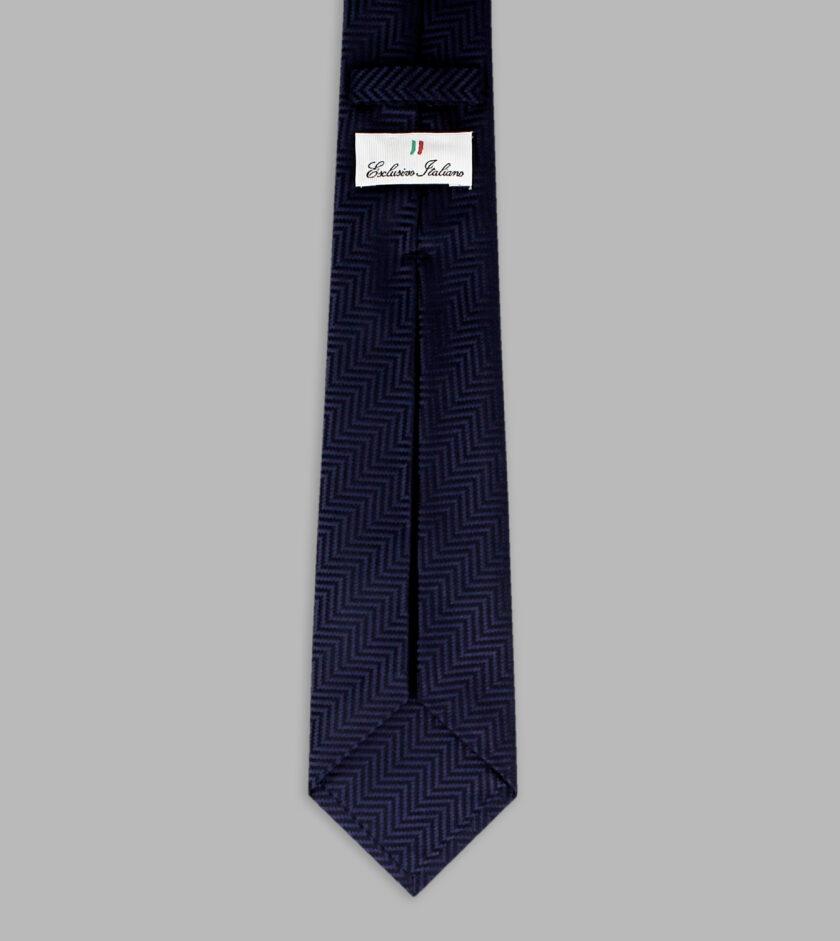 cravatta jacquard marino