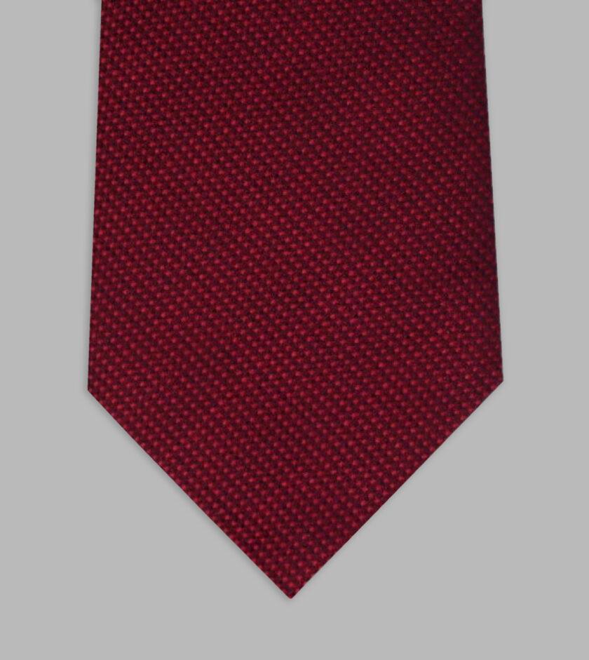 cravatta jacquard rosso