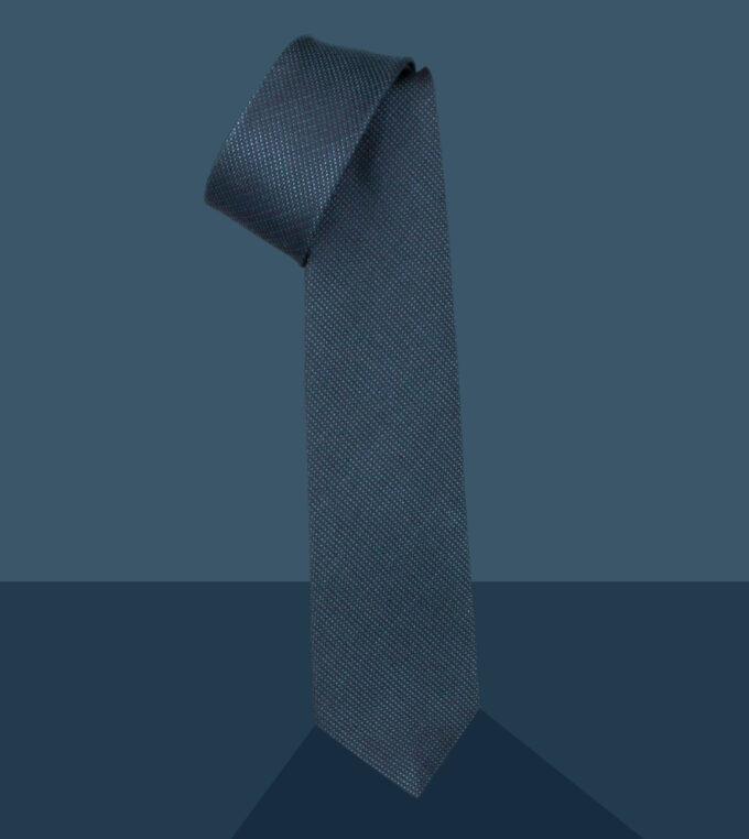 cravatta jacquard petrolio