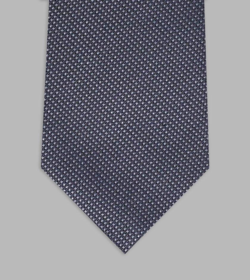 necktie jacquard grigio