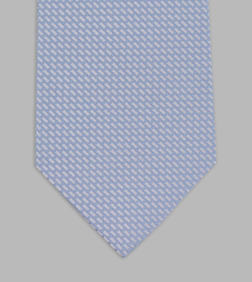 cravatta jacquard cielo