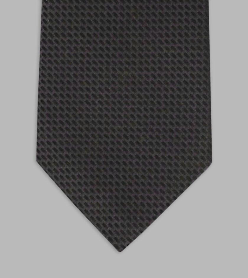 cravatta jacquard antracite