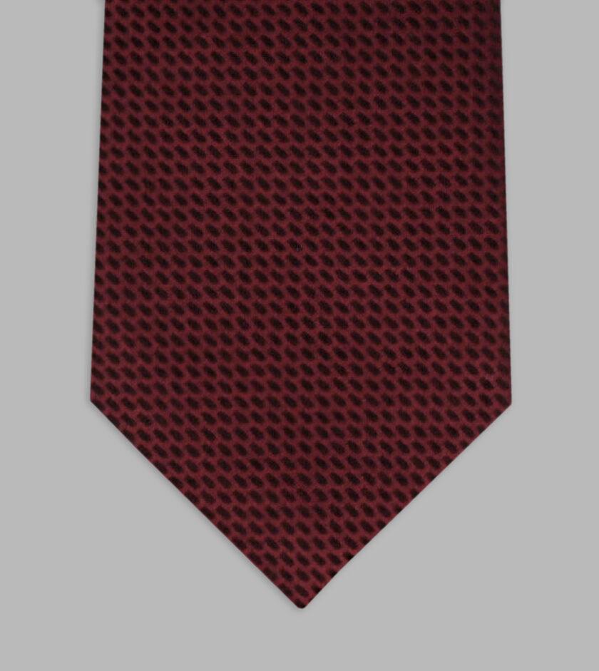 cravatta jacquard granata