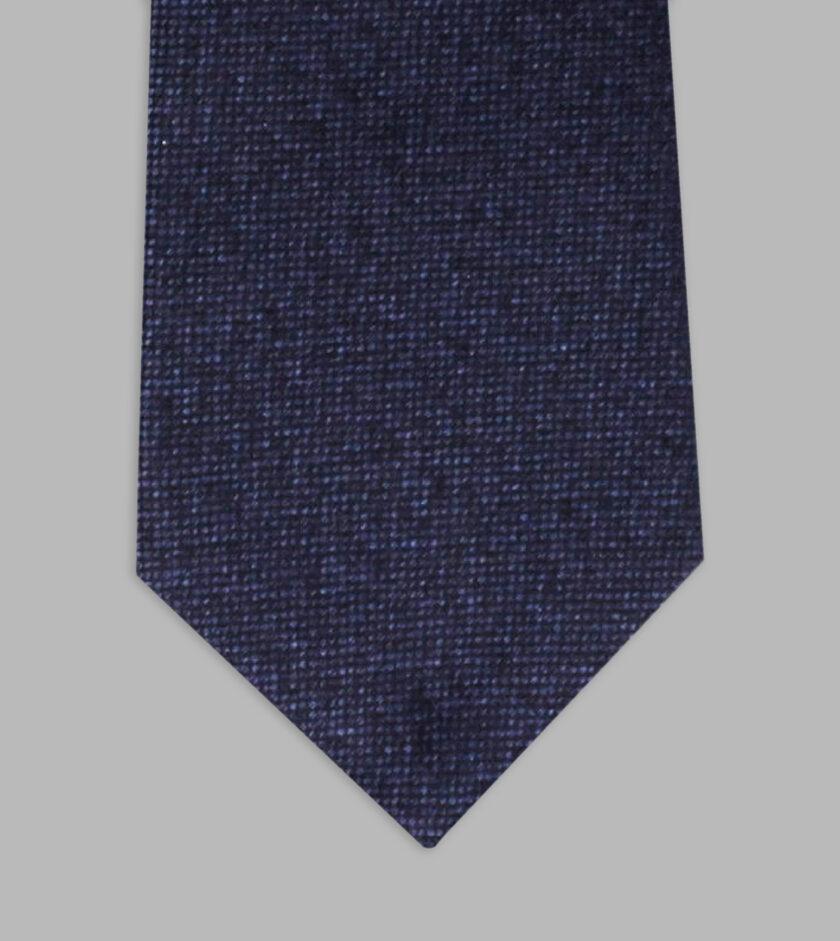 cravatta melange marino
