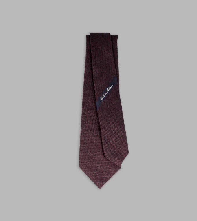 burgundy jacquard necktie