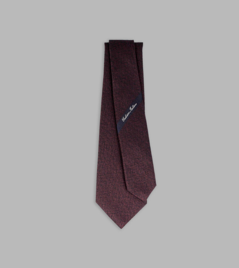 cravatta jacquard bordeaux