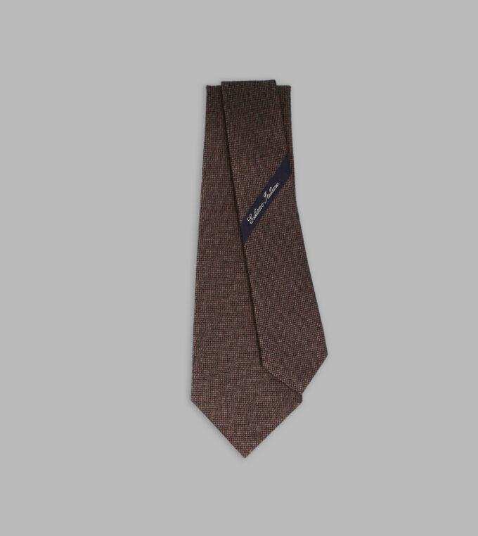 marrone jacquard necktie