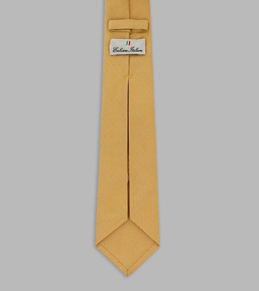 cravatta jacquard giallo