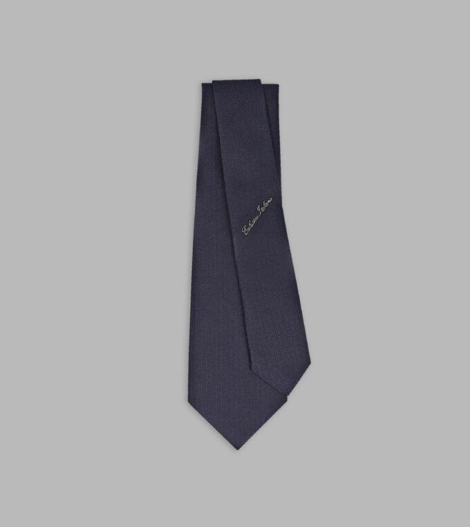 cravatta jacquard blu notte