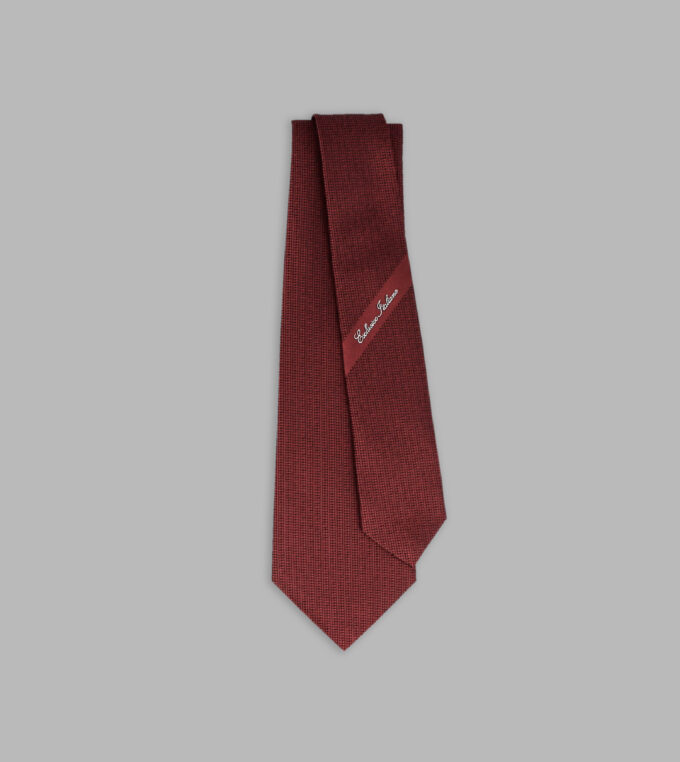 red jacqurd necktie
