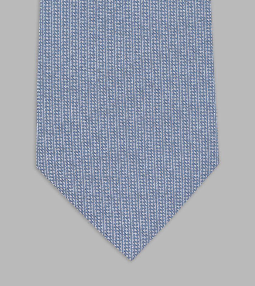 cravatta jacquard azzurra