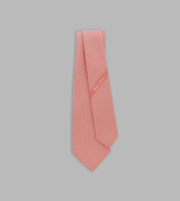 cravatta jacquard salmone