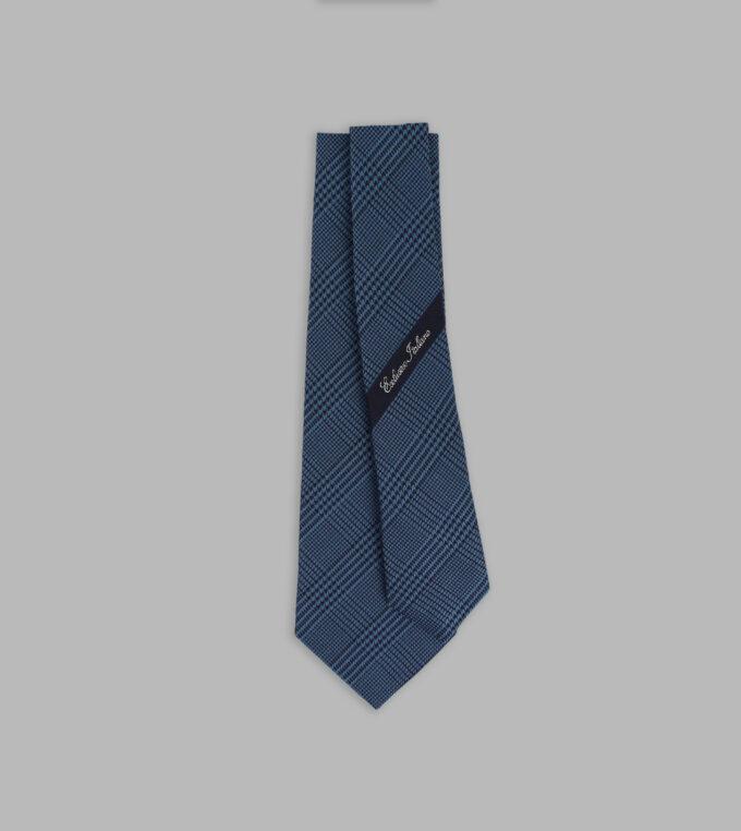 cravatta principe di galles blu