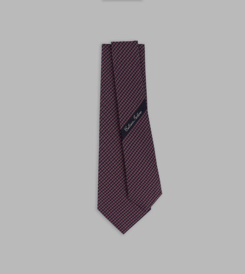 cravatta madras rosa