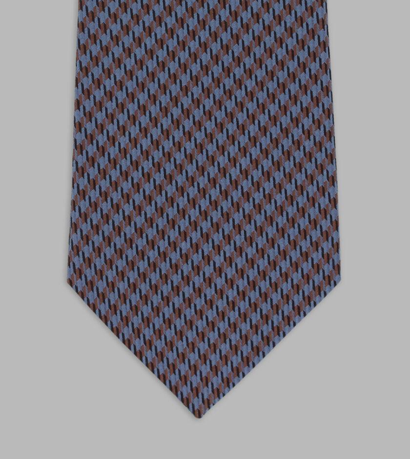 cravatta pied de poule blu avio