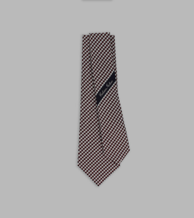 houndstooth red and white necktie