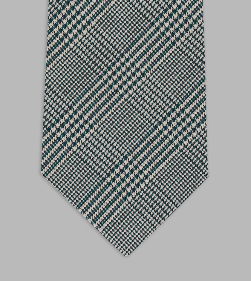 prince of wales motif oil blue necktie
