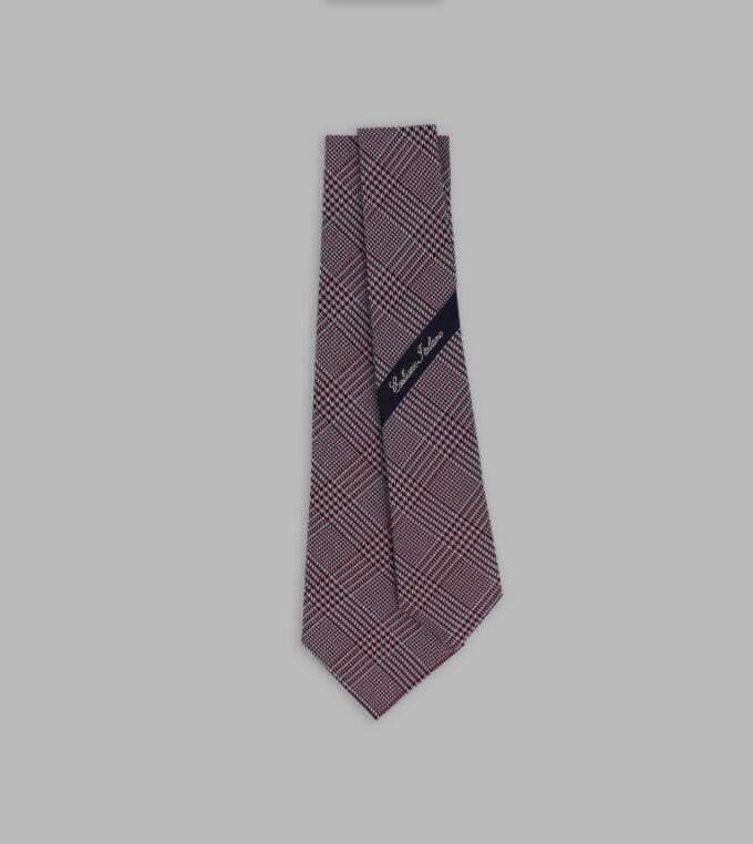 cravatta principe di galles bordeaux