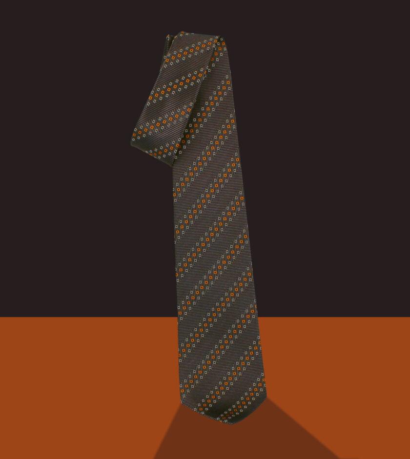 cravatta jacquard nero