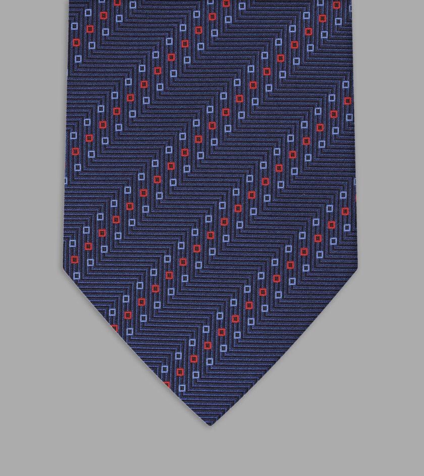 cravatta jacquard blu