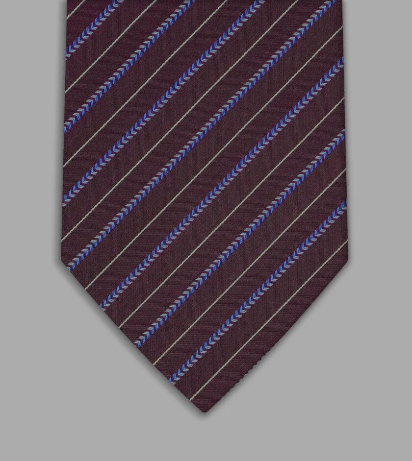 cravatta jacquard viola
