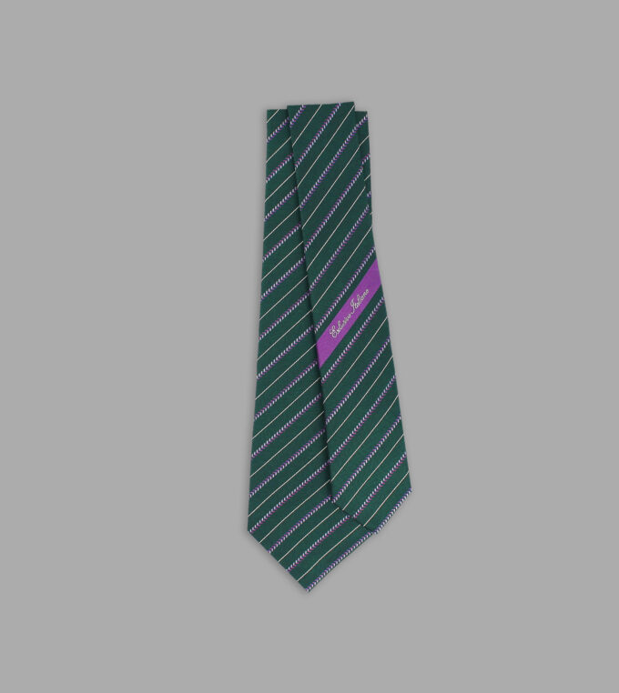 cravatta jacquard verde