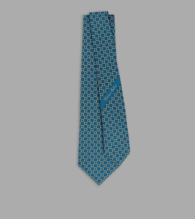 cravatta jacquard turchese
