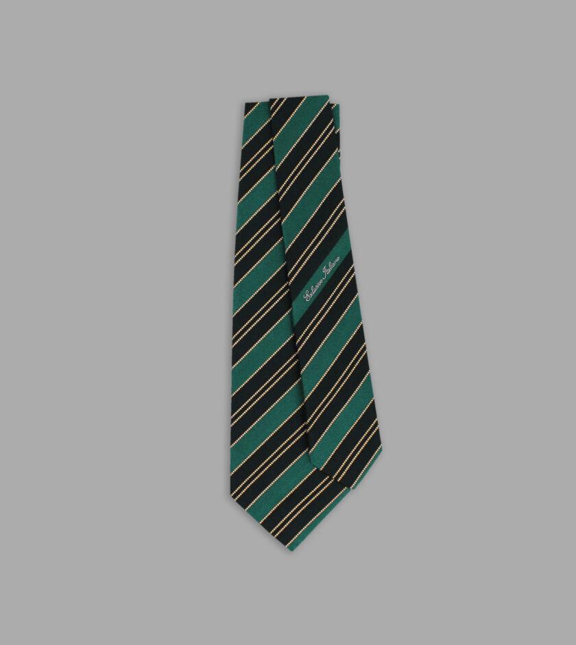 cravatta jacquard nera