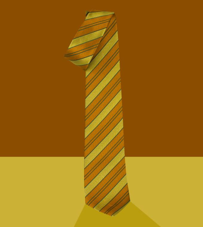 cravatta jacquard gialla