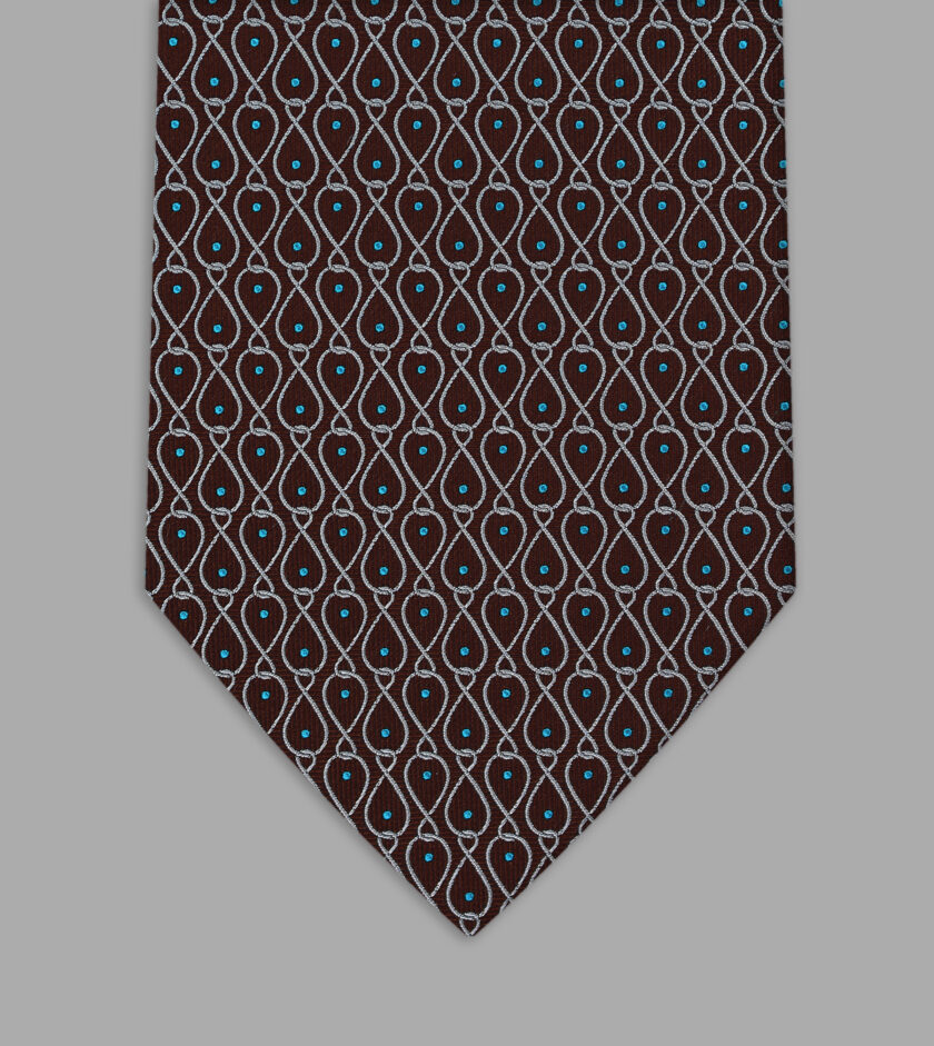 cravatta jacquard marrone