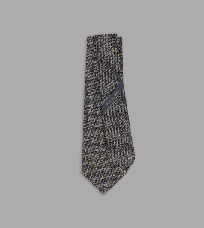 cravatta jacquard grigia