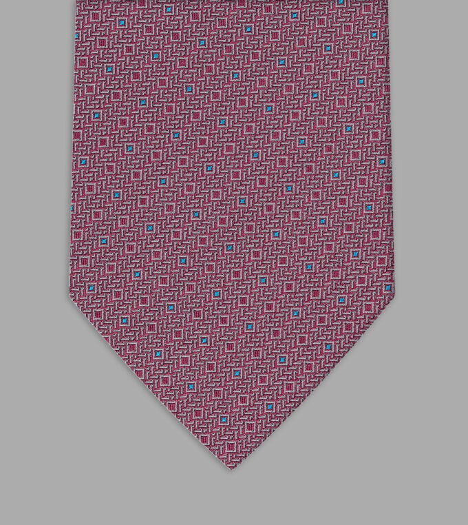 pink jacquard necktie