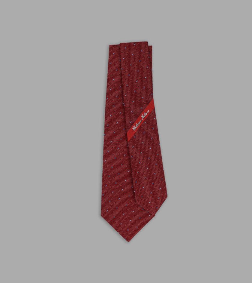 cravatta jacquard rossa