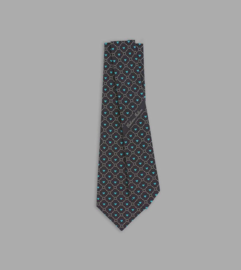 cravatta jacquard grigio